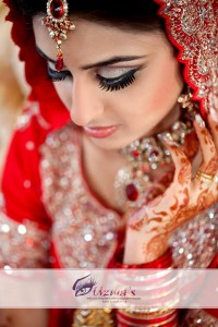 Bride on her wedding day
