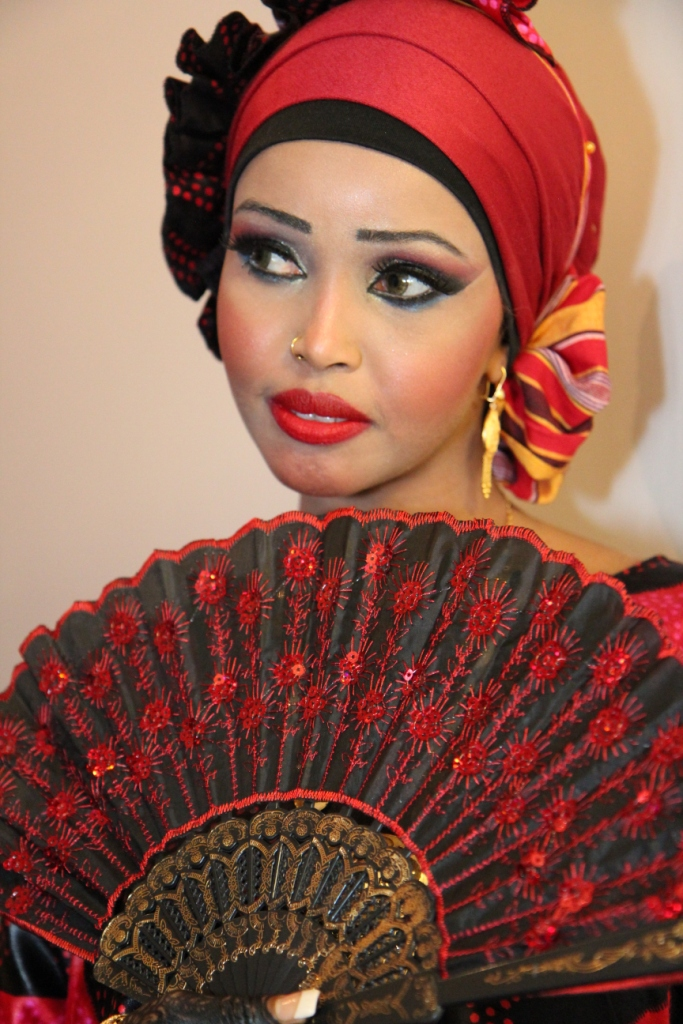 photoshoot of an african somalian bride settled in the uk