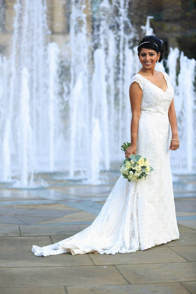 Bride In Traditional White Wedding Dress