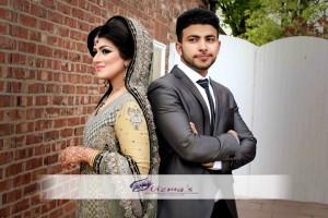 Beautiful Asian (Pakistani / Indian) couple (Bride and Groom) on their wedding day Photoshoot