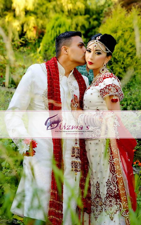 Indian Bride And Indian Groom At Their Wedding Photoshoot