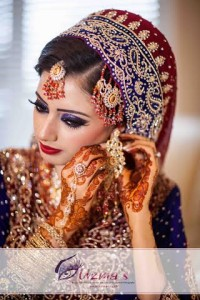 Gorgeous Pakistani bride on her Barat day.  In full makeup