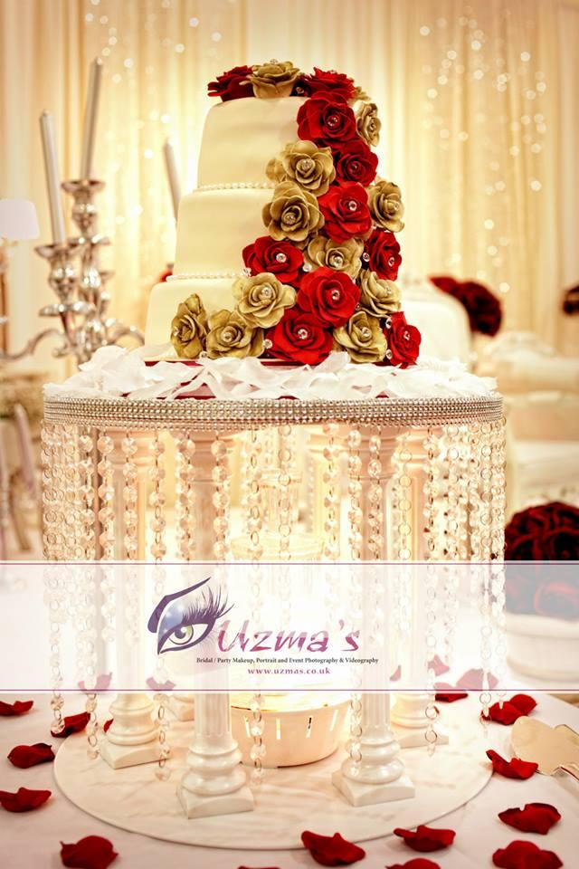 Wedding Cake - Arab Wedding Photography UK - Uzmas