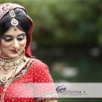Asian Bride on her wedding day in UK.