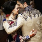 Indian Pakistani Asian Groom and White Bride getting married in Traditional way in UK